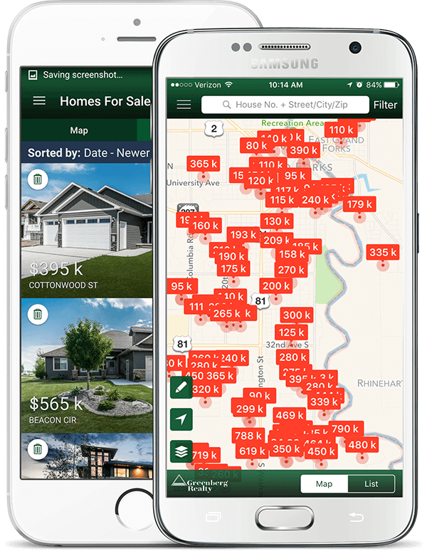 greenberg realty mobile app feature